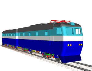 Модуль моделирования динамики рельсовых экипажей